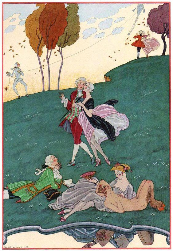 The Gallant Festivities by Paul Verlaine, 1928: