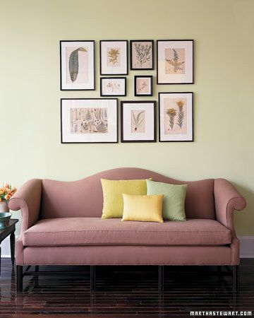 Art-Arranging Trick. Here's a way to plan a display of framed pictures without making a single needless nail hole