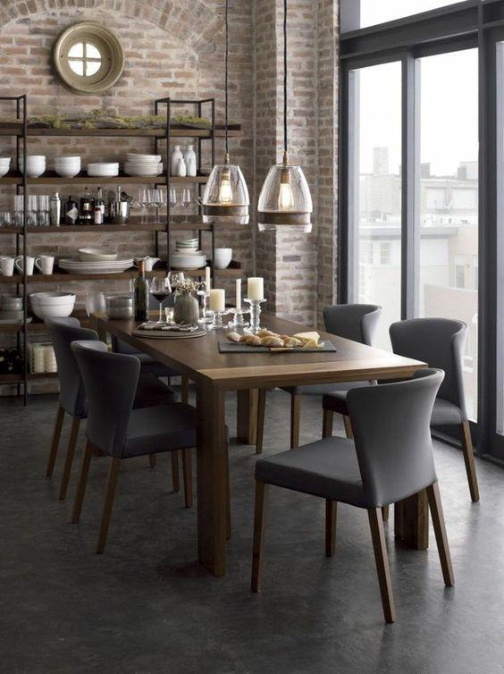 1 jolie salle a manger contemporaine avec chaises for Salle À manger contemporaine avec recherche salle a manger