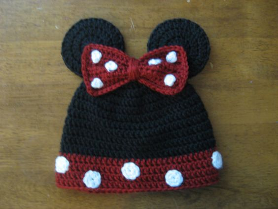 Minnie Mouse Hat Made to Order by TheMakingsofaMommy on Etsy, $20.00