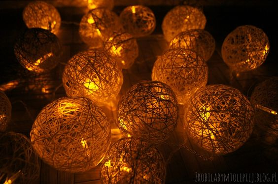 Cotton balls lights diy handmade