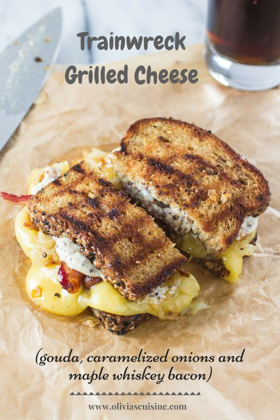 Grilled Ham And Gouda Sandwiches With Frisee And Caramelized Onions ...