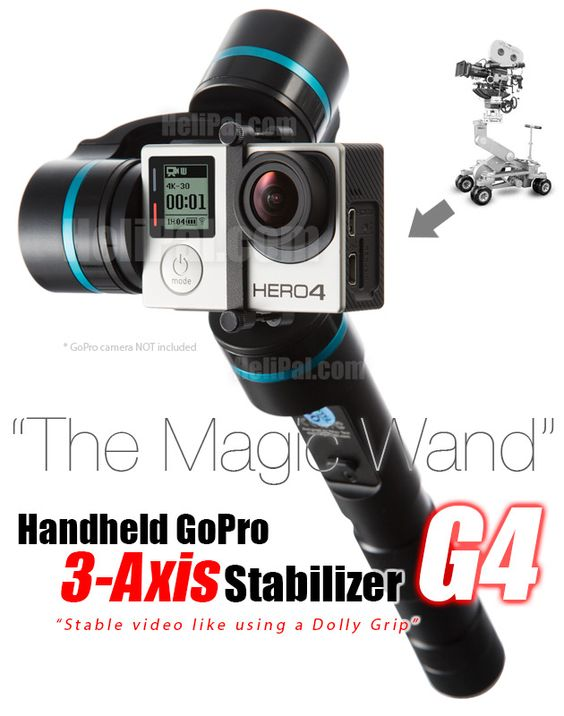 Stable video like using a Dolly Grip. http://www.helipal.com/feiyu-g4-handheld-stabilizer-for-gopro-hero-3-and-4-3-axis.html