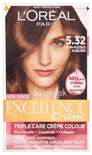 our richest color comes from our ultimate care excellence by loral our first hair color with triple protection system revitalizes and protects - Coloration L Oreal Caramel