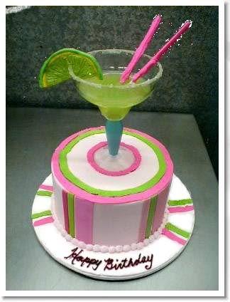 Happy Birthday Margarita Cake Creative Cakes Pinterest