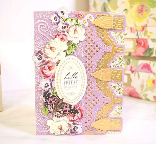 How To Make A Custom Handmade Greeting Card With Pretty Tassels