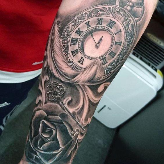 Taschenuhr tattoos taschenuhren and beliebt on pinterest