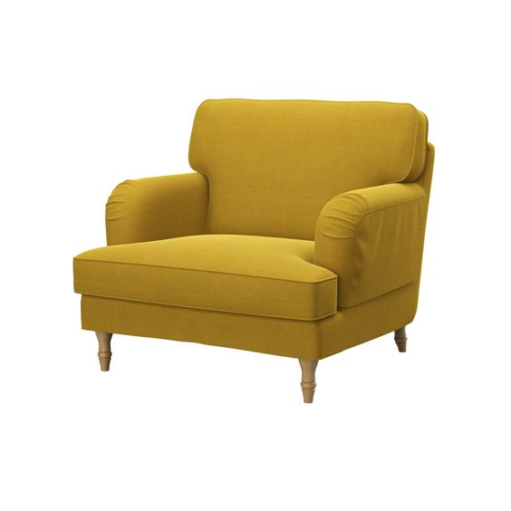 IKEA STOCKSUND armchair - custom yellow cover | soferia.co.uk