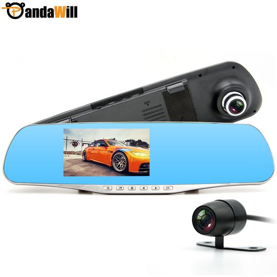 New Car DVR Camera Dual Lens Rearview mirror DVRs Full HD 1080P Recorder Video Registrar Camcorder Night Vision Black Box