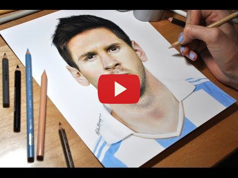 Watch This Insanely Talented Girl Drawing Lionel Messi On A Paper