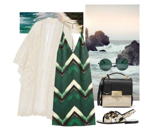 """""""Luxe Beachy Outfit - Dreaming of Warm Weather"""" by loveraige ❤ liked on Polyvore featuring Anna Sui, H&M, Marni, YHF, Balenciaga, Lulu*s, women's clothing, women, female and woman"""