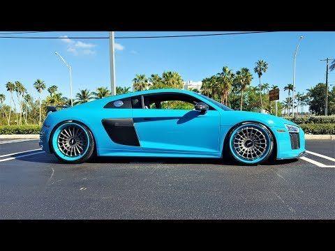 Audi R8 V10 Plus Test Drive Acceleration Sound 610 Hp Miami Blue Exterior At Prestige Imports Miami Youtube Audi R8 V10 Plus Audi R8 Audi R8 V10