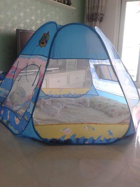 宝宝超大游戏屋帐篷儿童玩具屋房子室内外便携式男女孩蓝色新年节-淘宝网
