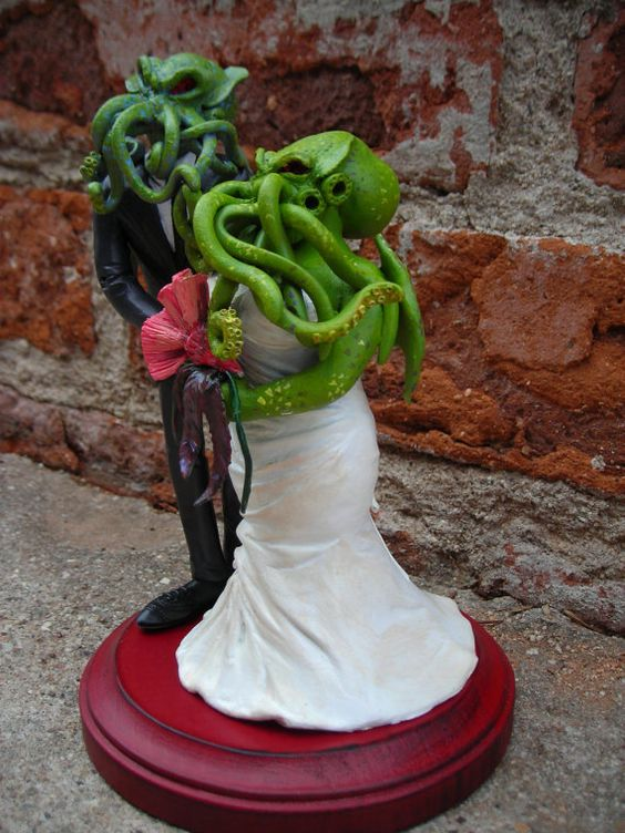 I do, Cthulhu  Epic Cthulhu Cake Topper. I would consider this just for sethers <3: