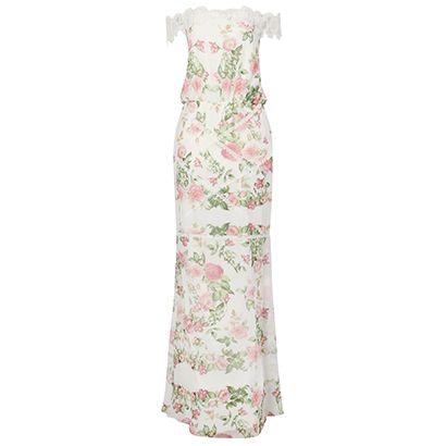 Vestido longo Iorane rosas renda - off white
