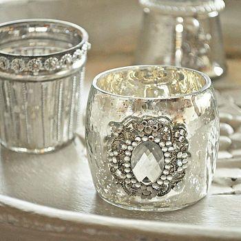 vintage brooch tea lights mirror paint vintage pins. Black Bedroom Furniture Sets. Home Design Ideas