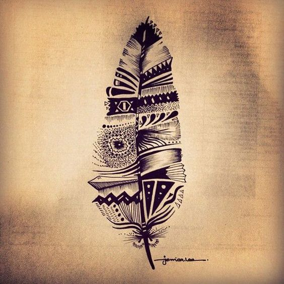 tribal feather tattoo - 70+ Awesome Tribal Tattoo Designs | Art and Design