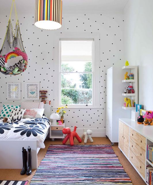white and black polka dots #Kidsroom: