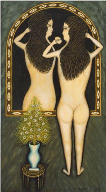 Morris Hirshfield, 1940, Girl in a Mirror: