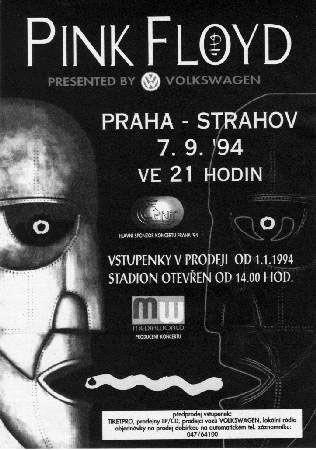 Pink Floyd - Strahov Stadion, Prague, Czech Republic (September 1994)