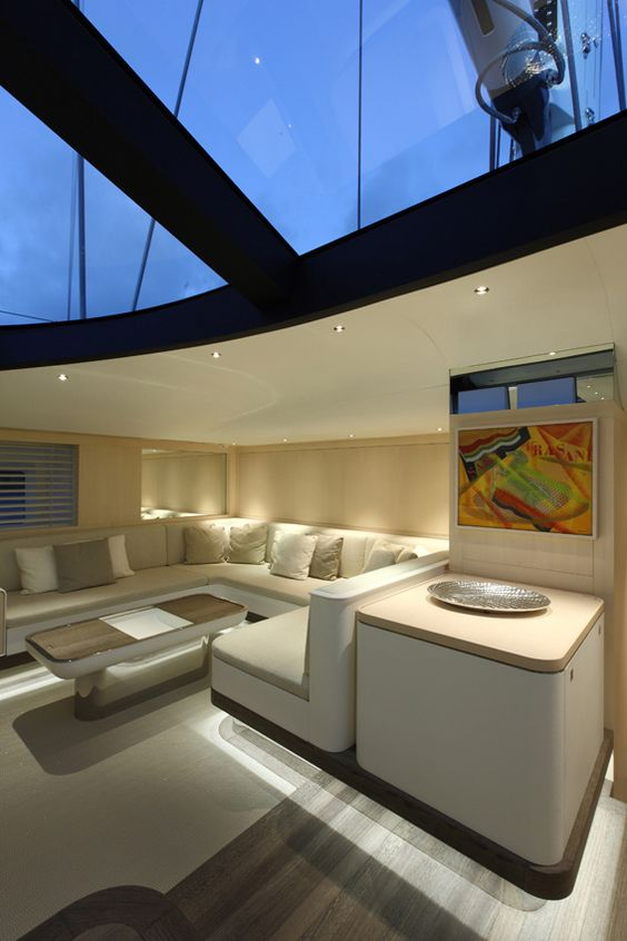 luxury yacht interiors | fitzroy sailing yacht zefira interior by, Innenarchitektur ideen