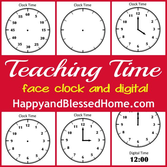 tell time preschool learning teaching time blank clock and clock faces. Black Bedroom Furniture Sets. Home Design Ideas