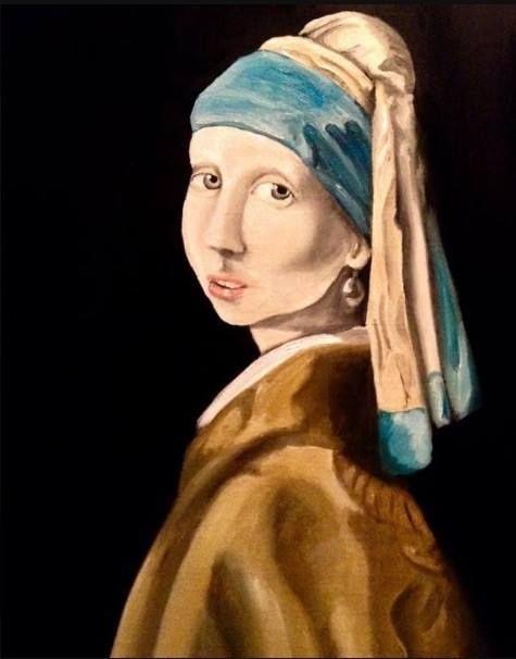 intencional maximizar Camarada  La Joven de la Perla (replica), cuadro original, Óleo sobre Lienzo, comprar  cuadros | Óleo sobre lienzo, Perlas, Cuadro originales