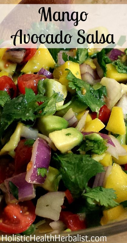 Mango Avocado Salsa  Easily my favorite salsa of all time! be sure to try it out :)  #salsa #mangosalsa #summerrecipe