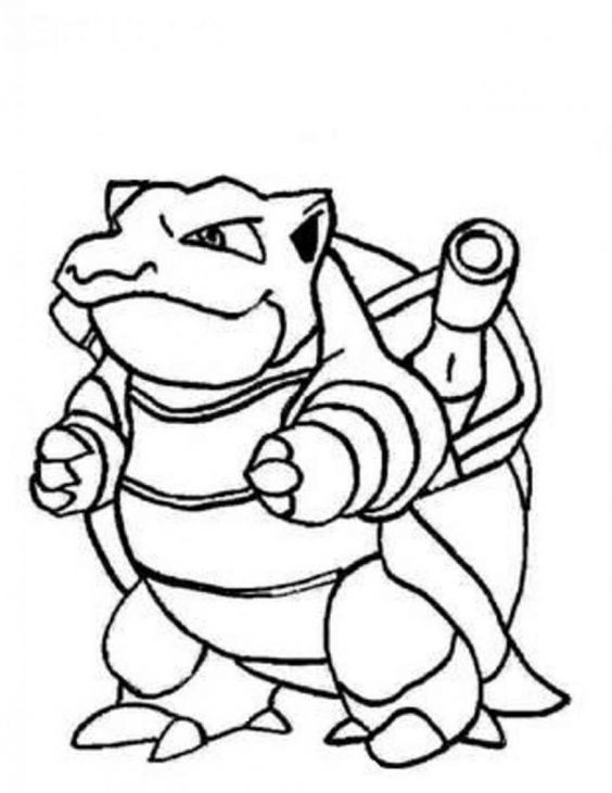 Pokemon Coloring Pages Wartortle Cartoon Pinterest