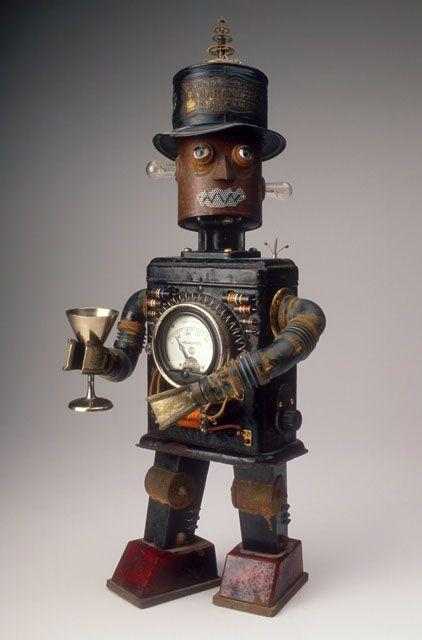 Gentleman robot with top hat