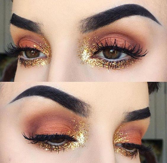 Amazing burnt orange eyeshadow