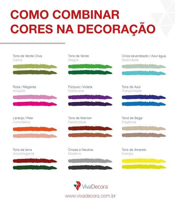 infografico Como combinar cores na decoração da casa