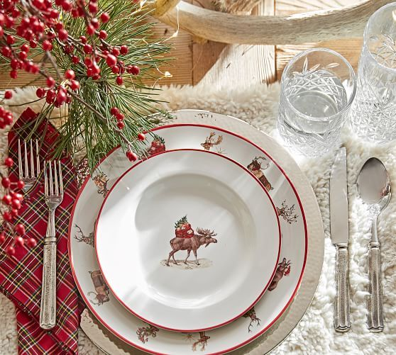 Sherpa Placemat Holiday Dining Dinner Plates Dinnerware