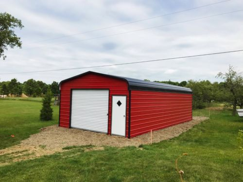 12 X31 X8 Garage Carport Rv Covers Pre Fab Barns Steel