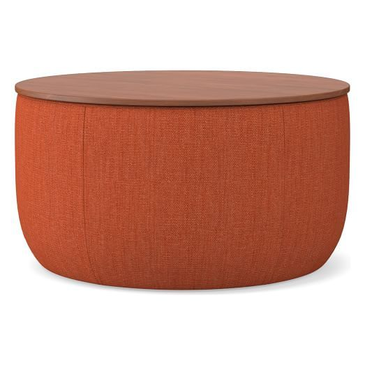Upholstered Base Storage Ottoman Large Ottoman Storage