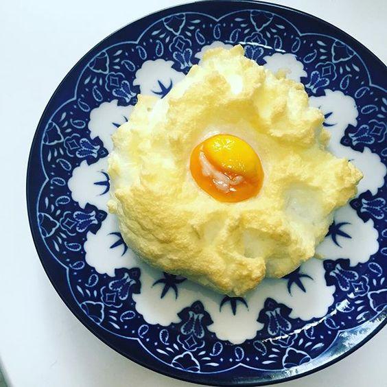 . 今流行ってる(らしい) #エッグインクラウド #eggincloud 次はパンに乗せて食べてみよっと