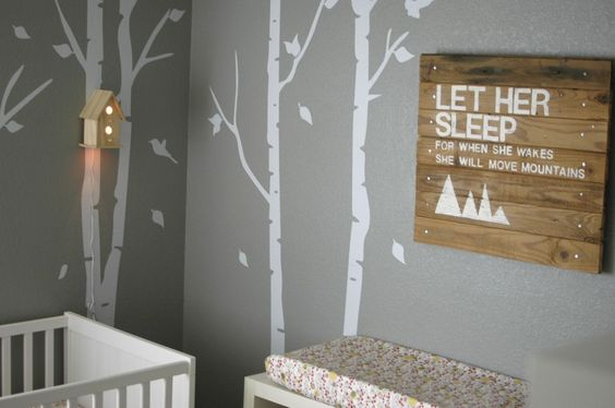 """""""Let Her Sleep"""" Wood Wall Art - perfect for the #nursery!"""