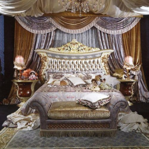 Royal Hand Carving Queen Bed From China 065 Bed Royal Furniture
