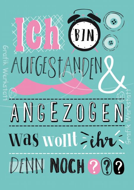 Ich bin aufgestanden - Postkarten - Grafik Werkstatt Bielefeld