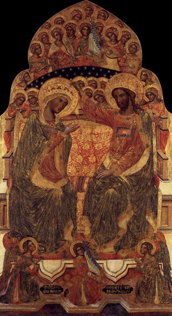 DONATO  Coronation of the Virgin  c. 1372    Fondazione Querini Stampalia, Venice: