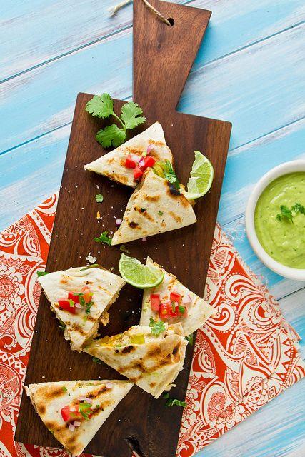 Grilled Avocado & Chicken Quesadillas by foodiebride, via Flickr