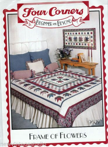 FRAME-OF-FLOWERS-Quilt-Wallhanging-Pattern-9527-by-Four-Corners-NEW