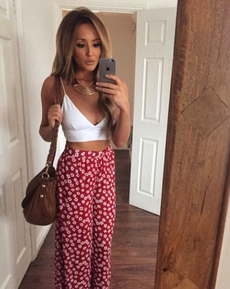 The Geordie Shore star showing off her svelte figure with a new selfie [Charlotte Crosby/Instagram]