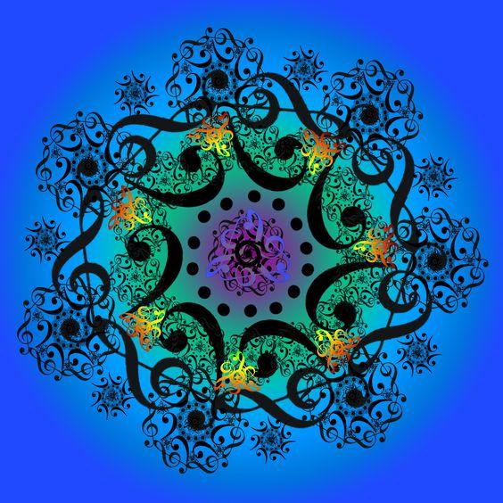 Mandala ilucion optica pinterest a il turquesa y - Cual es el color anil ...