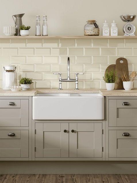 Using The Metro Ivory White Tiles In A Kitchen Setting Creates A