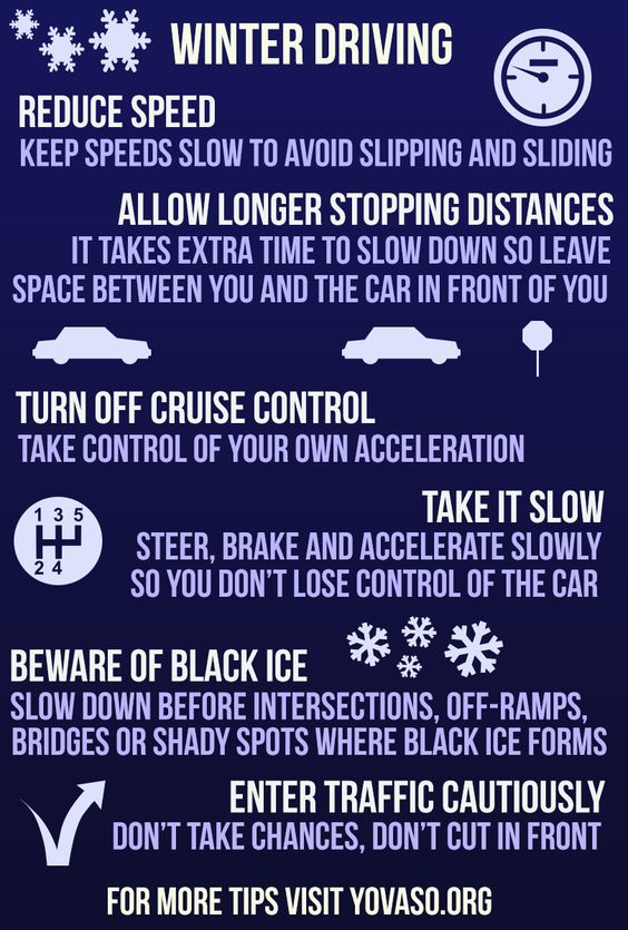 winter driving tips - Google Search: