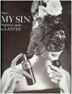 My Sin by Lanvin  Vintage ad.