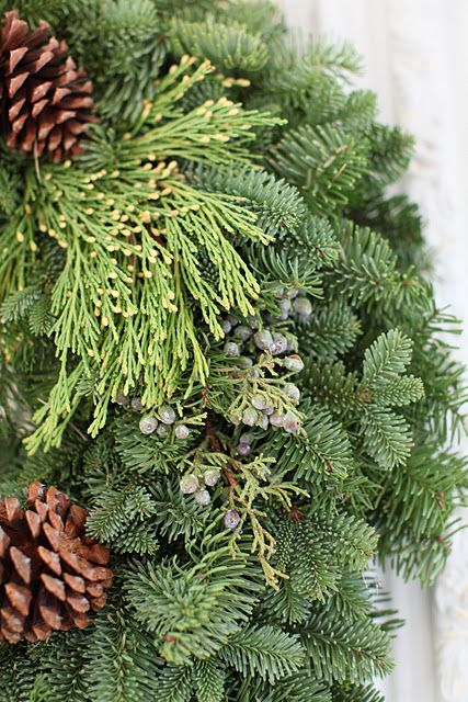 Beautiful wreath from Wintersteen Farms. Featured on Dreamy Whites blog.