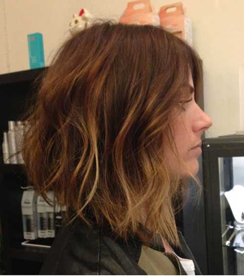 Balayage Inverted Bob Haircuts