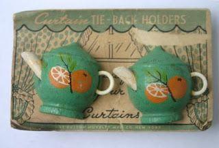 Teapot tie back holders